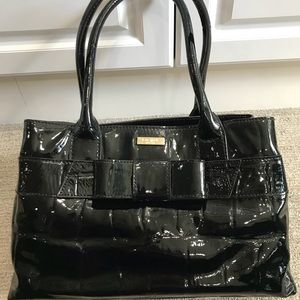 Kate Spade- Black Patent Leather, Perfect Cond.